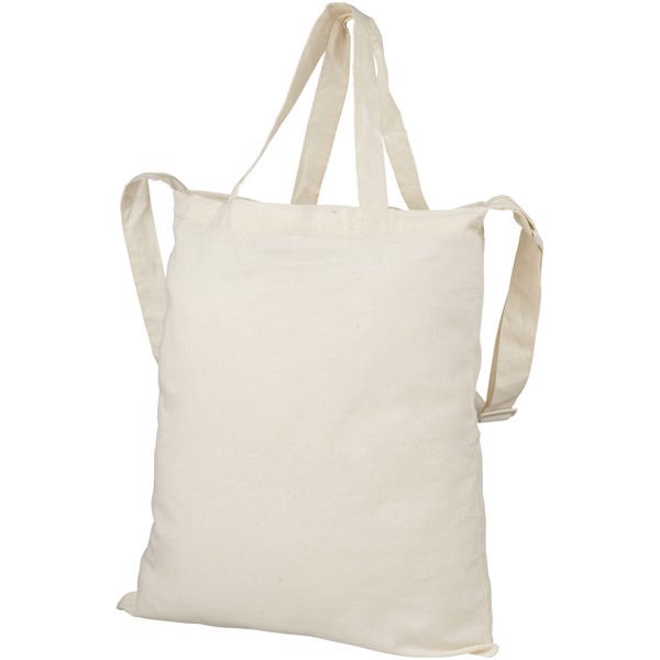 Verona 100 g/m² dual carry cotton tote bag - Natural