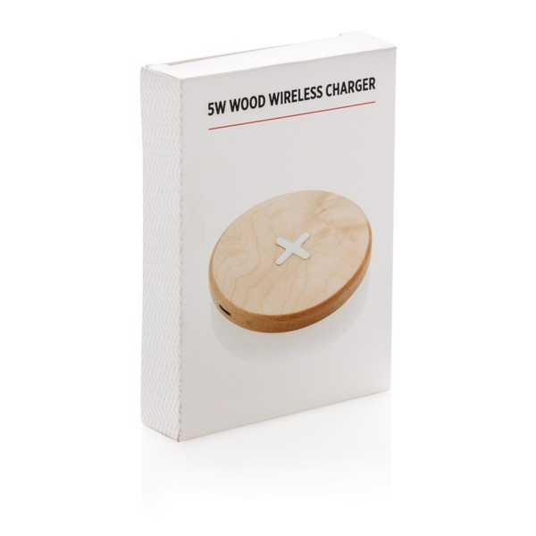 Dřevěná bezdrátová nabíječka 5W