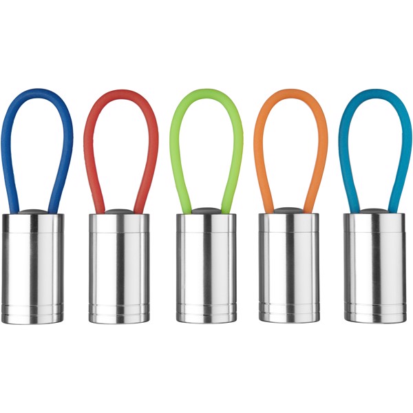 Svítilna Vela se 6 LED a svítícím popruhem - Světle modrá
