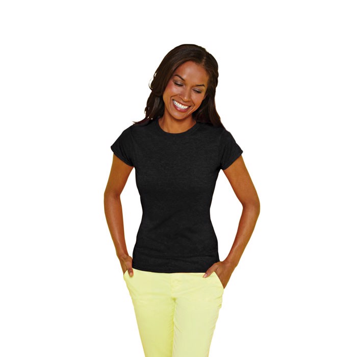 Ladies t-shirt 150 g/m² Lady-Fit Ring Spun 64000L - Black / L
