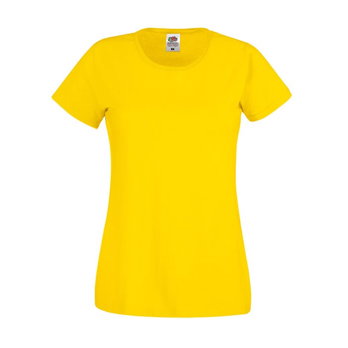 Lady-Fit póló 145 g/m² Lady-Fit Original Tee 61-420-0 - Yellow / XS