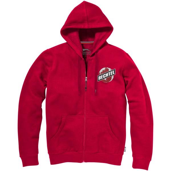 Mikina Open s kapucí, zip v celé délce - Červená s efektem námrazy / XXL