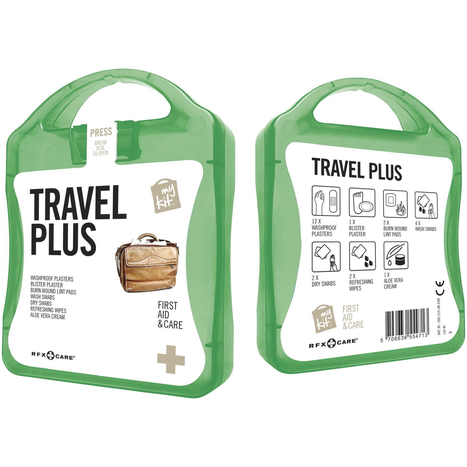 MyKit Travel Plus First Aid Kit - Green