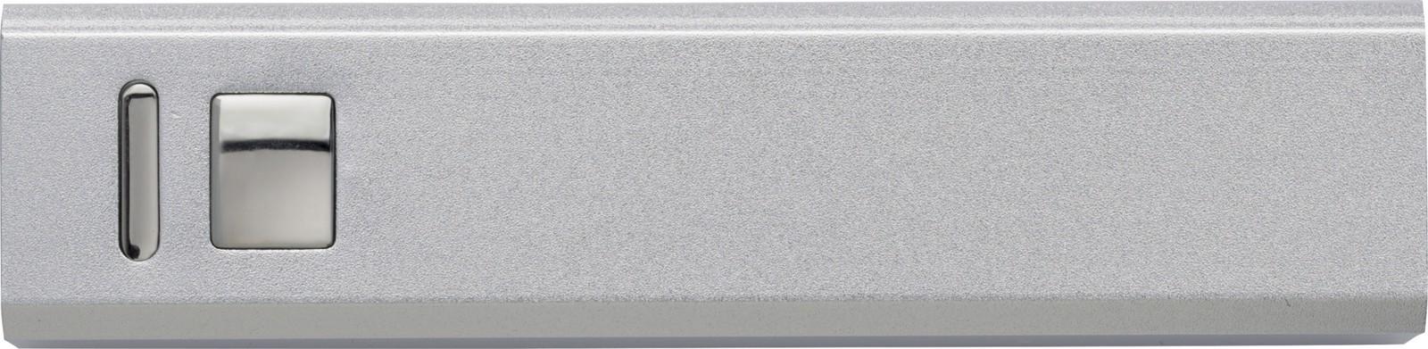 Aluminium power bank - Silver