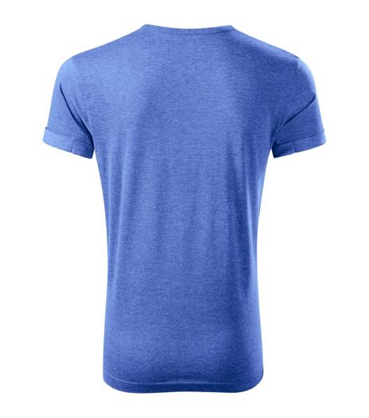 Tričko pánské Malfini Fusion - Modrý Melír / 3XL