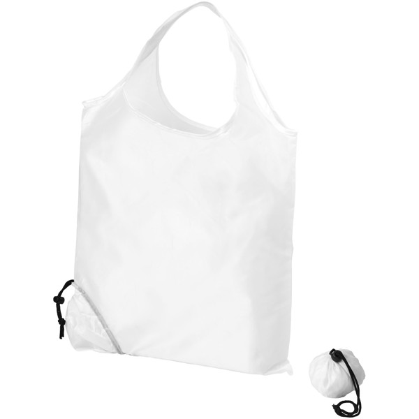 Scrunchy shopping tote bag - White