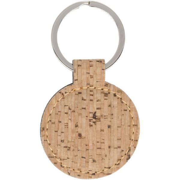 Okrogel obesek za ključe iz plute Cork-look