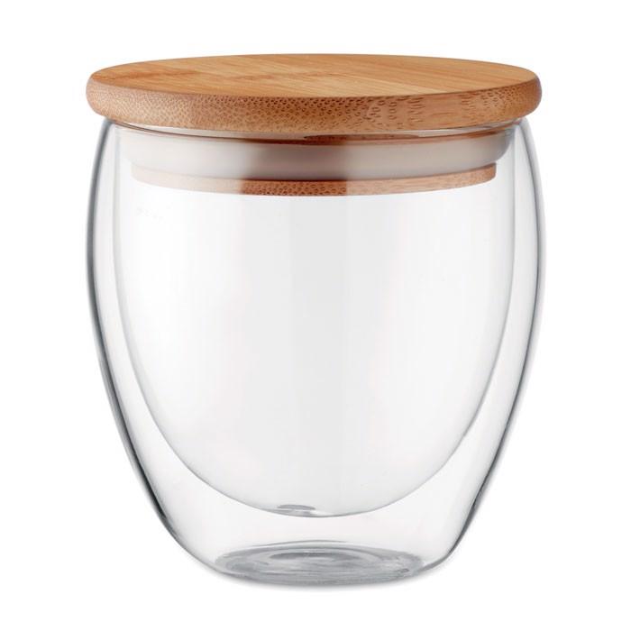Dvostenski kozarec Tirana Small 250 ml