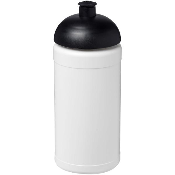 Baseline® Plus 500 ml Sportflasche mit Stülpdeckel - Weiss / Schwarz