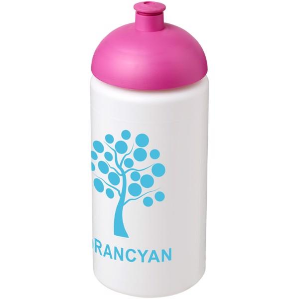 Sportovní láhev s kupolovitým víčkem Baseline® Plus grip 500 ml - Bílá / Růžová