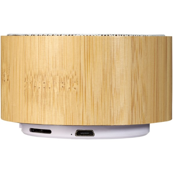 Cosmos bamboo Bluetooth® speaker - Wood / White