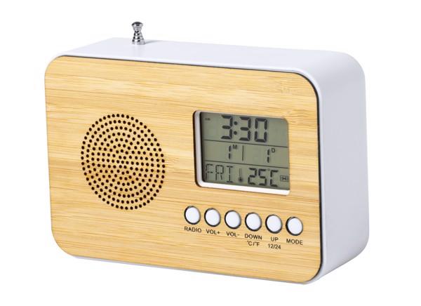Stolní Rádio S Hodinami Tulax - Přírodní