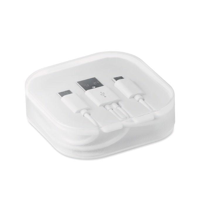 Kable w pudełku Connecti - biały