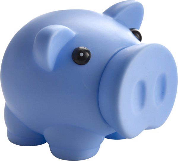 PVC piggy bank - Light Blue