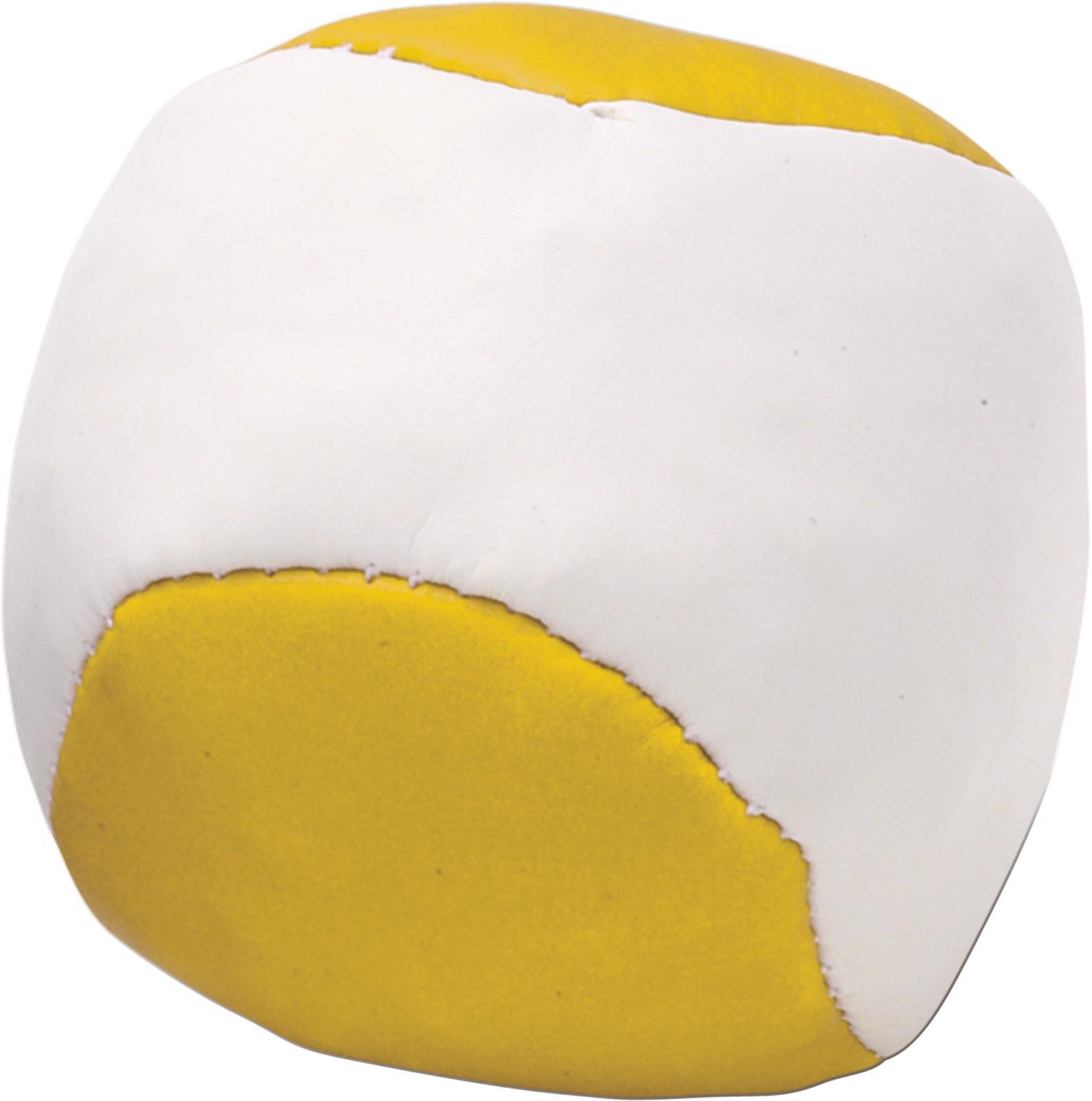 Imitation leather juggling ball - Yellow