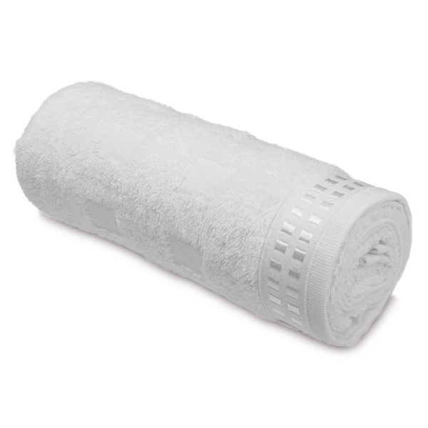 ARIEL I. Cotton terry towel - Λευκό