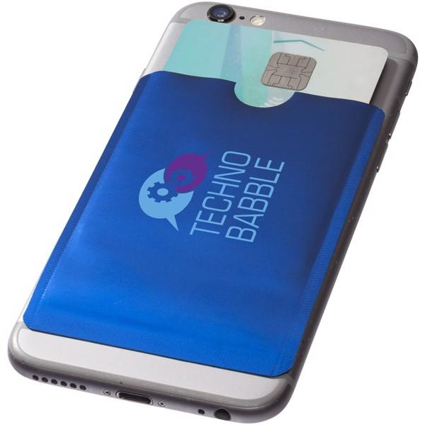Pouzdro na karty RFID k chytrému telefonu - Světle modrá