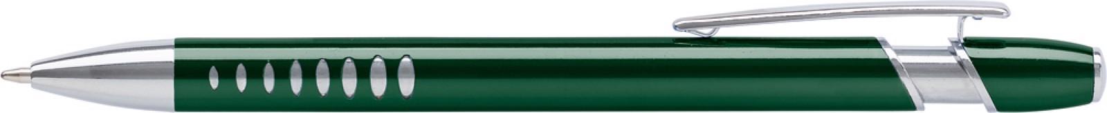 Aluminium ballpen with UV coating - Green
