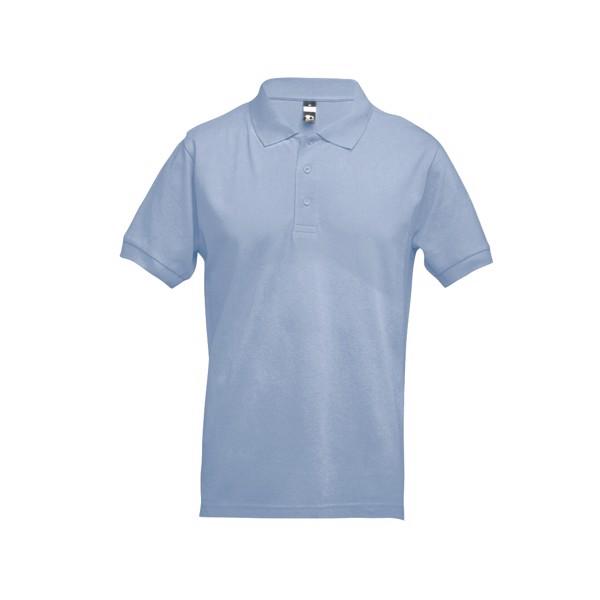 ADAM. Men's polo shirt - Pastel Blue / S