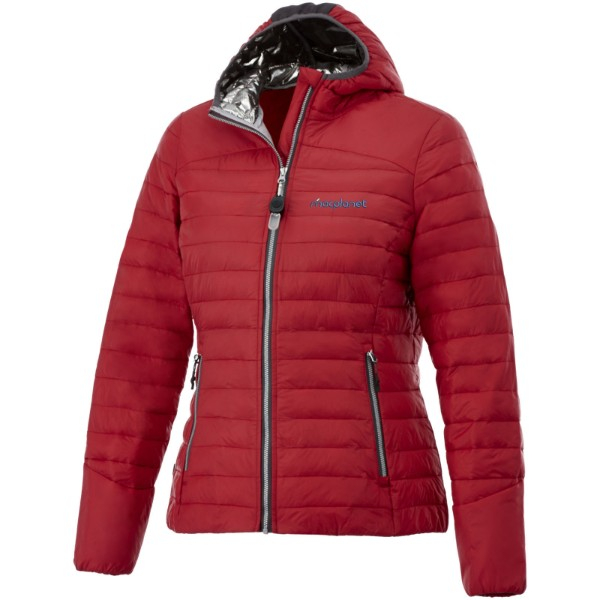 Dámská oteplená bunda Silverton - Červená s efektem námrazy / S