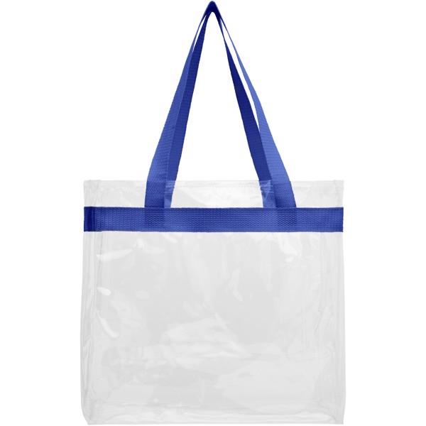 Hampton transparent tote bag - Royal blue / Transparent clear