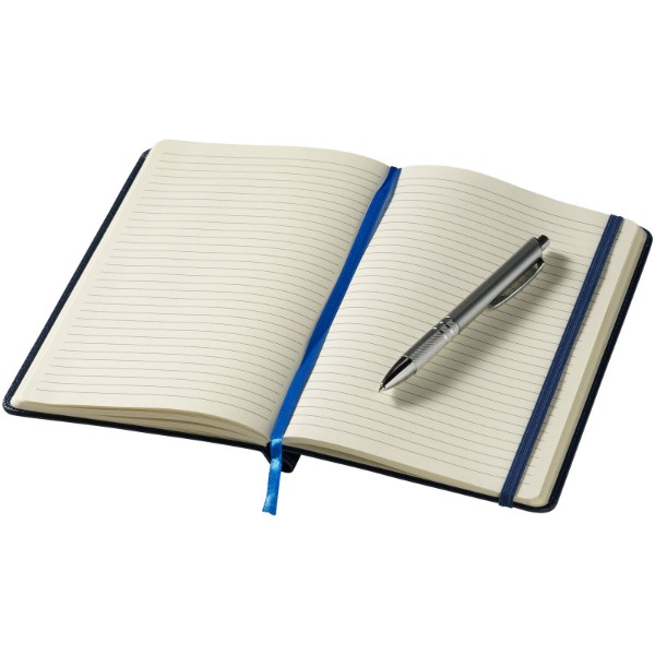 Panama A5 Hard Cover Notizbuch mit Stift - Navy