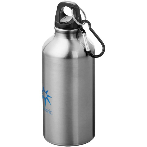 Oregon 400 ml sport bottle with carabiner - Silver