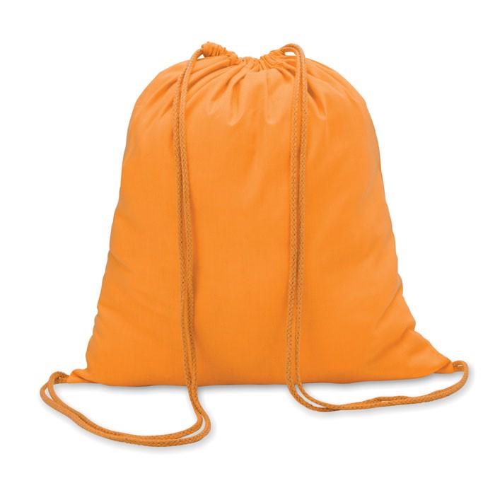 100gr/m² cotton drawstring bag Colored - Orange