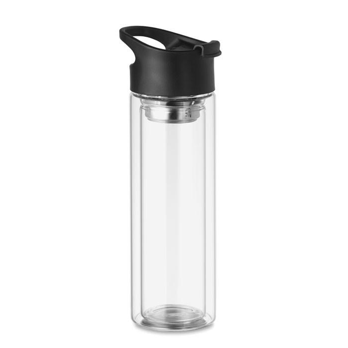 Botella cristal dob.capa 380ml Bielo