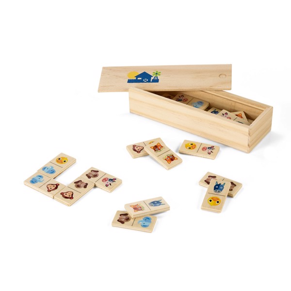 DOMIN. Wooden domino game
