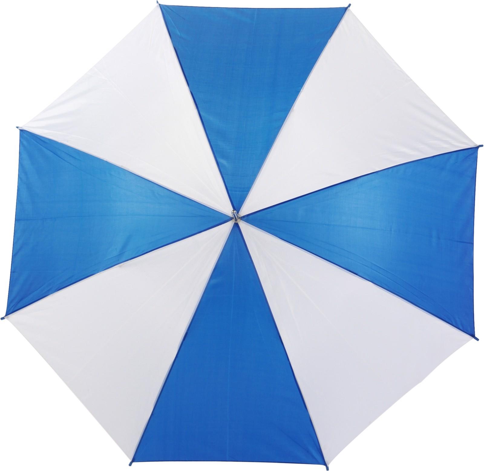 Polyester (190T) umbrella - Blue / White