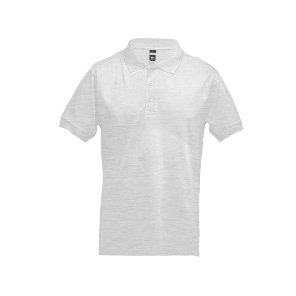 ADAM. Ανδρική πόλο μπλούζα - Λευκό Μελανζέ / XL