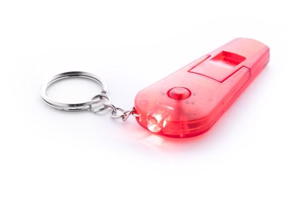 Přívěšek Na Klíče S Píšťalkou Coach - Červená