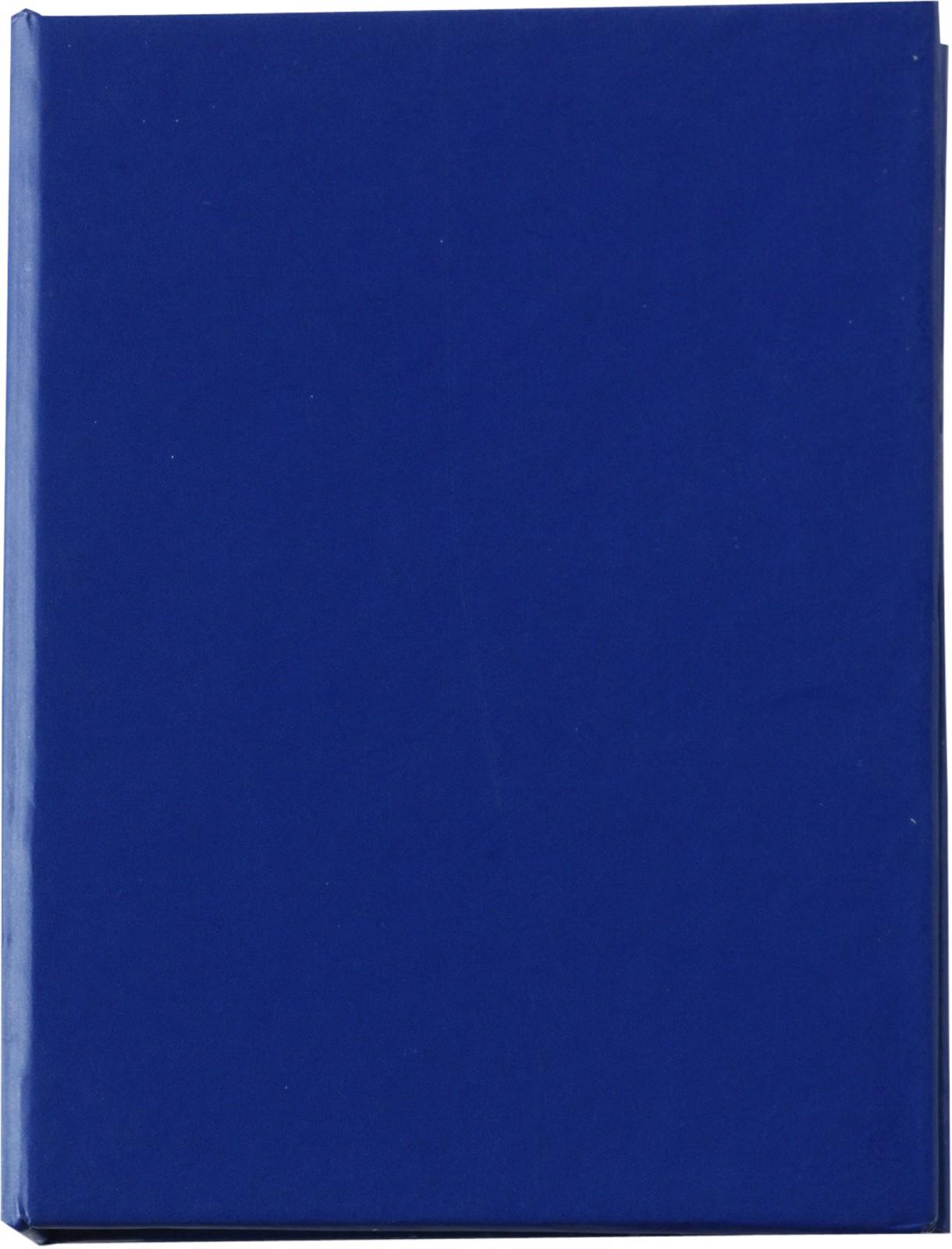 Cardboard holder with sticky notes - Blue