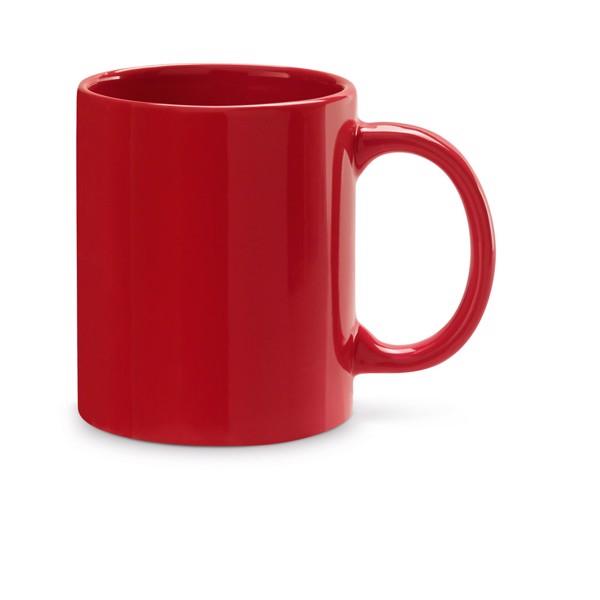 BARINE. Taza de cerámica 350 ml - Rojo
