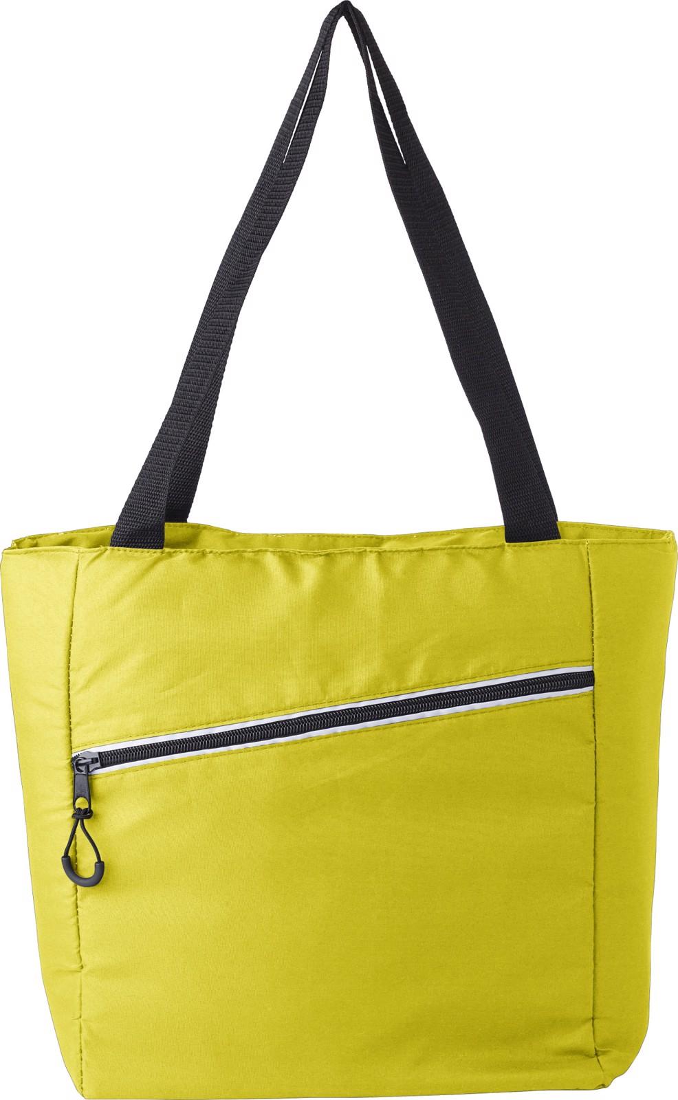 Pongee (75D) cooler bag - Yellow