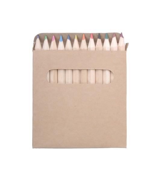 12-delni komplet barvnih svinčnikov Lea - natural