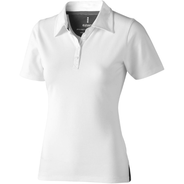 Markham short sleeve women's stretch polo - White / XL