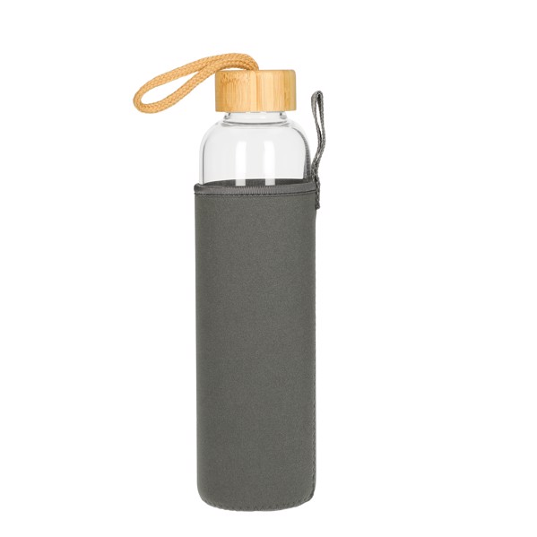 """Glass Bottle With Sleeve """"Bamboo"""" 0,75 L"""