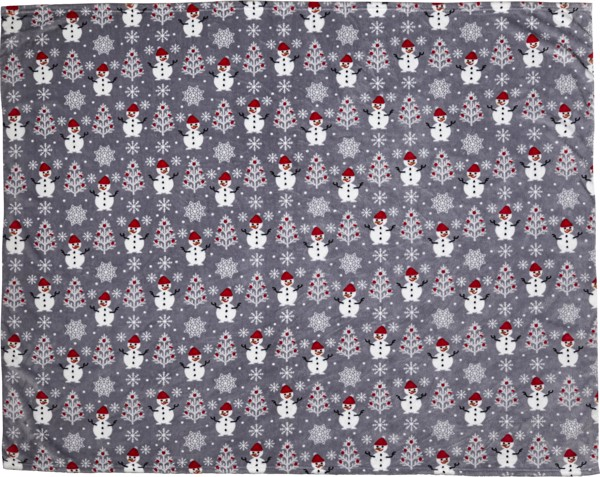 Decke 'Cuddle' aus 100% Polyester und Flanell - Grey