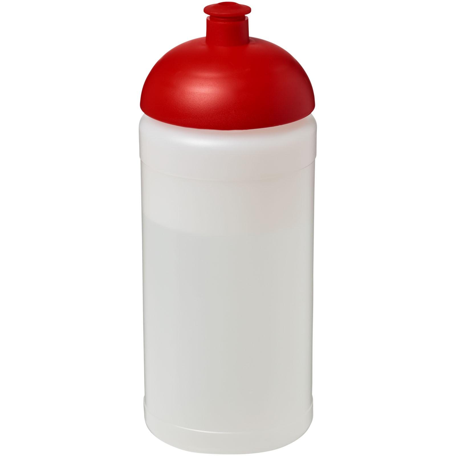 Sportovní láhev s kupolovitým víčkem Baseline® Plus 500 ml - Průhledná / Červená s efektem námrazy