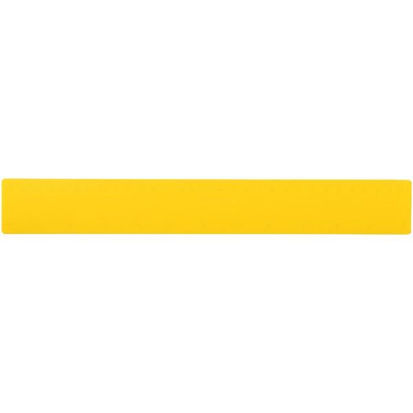 Rothko 30 cm plastic ruler - Yellow