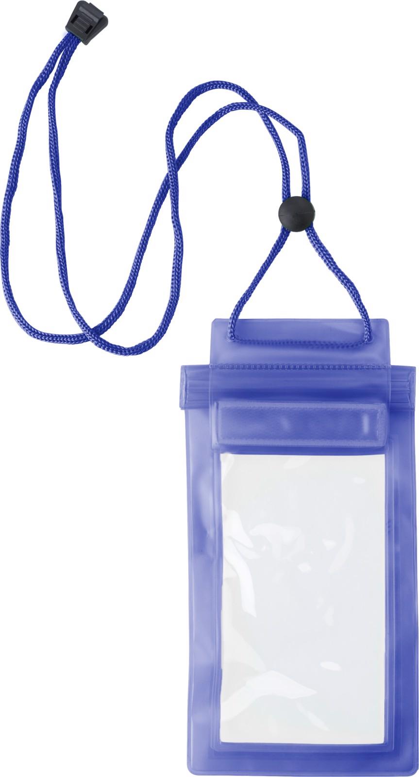 PVC pouch for mobile devices - Cobalt Blue