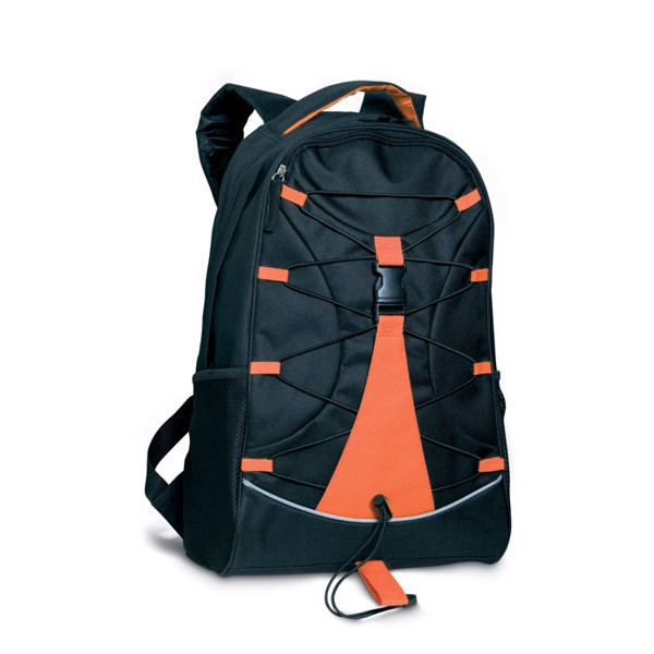 Czarny plecak Monte Lema - pomarańczowy