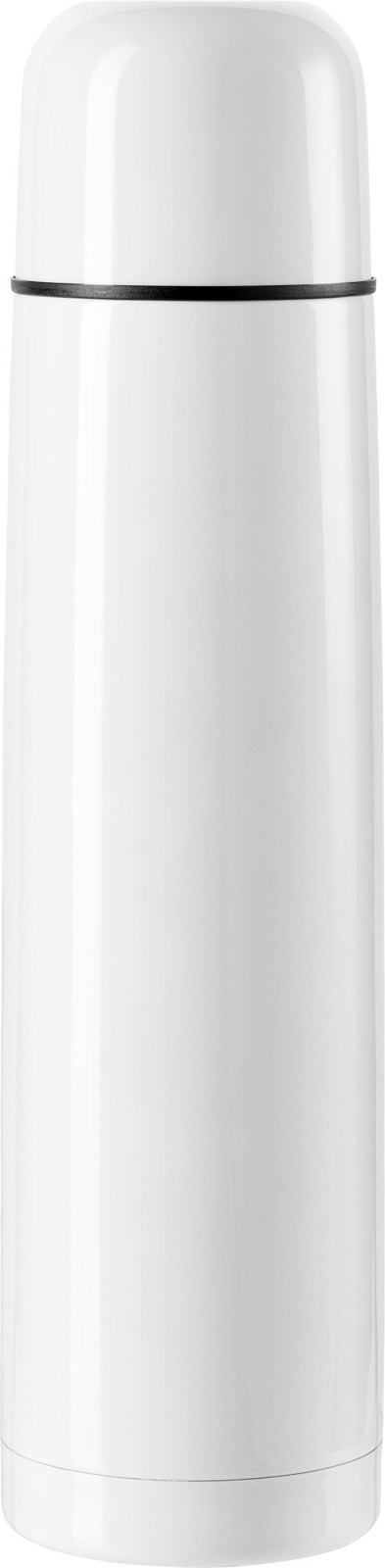 Stainless steel double walled flask - White