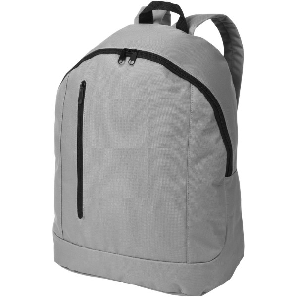 Boulder vertical zipper backpack - Grey