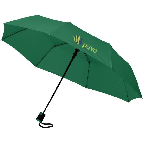 """Skládací deštník Wali 21"""" s automatickým otvíráním - Zelená"""