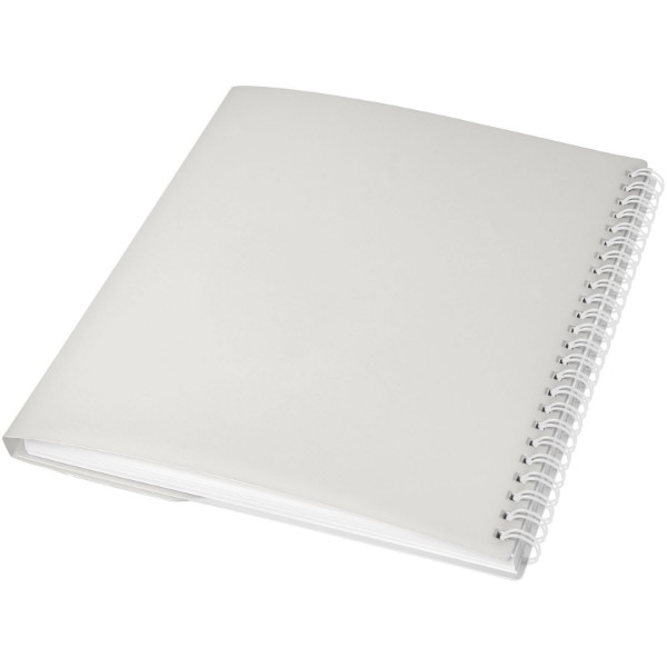 Curve A6 notebook - Frosted clear / White