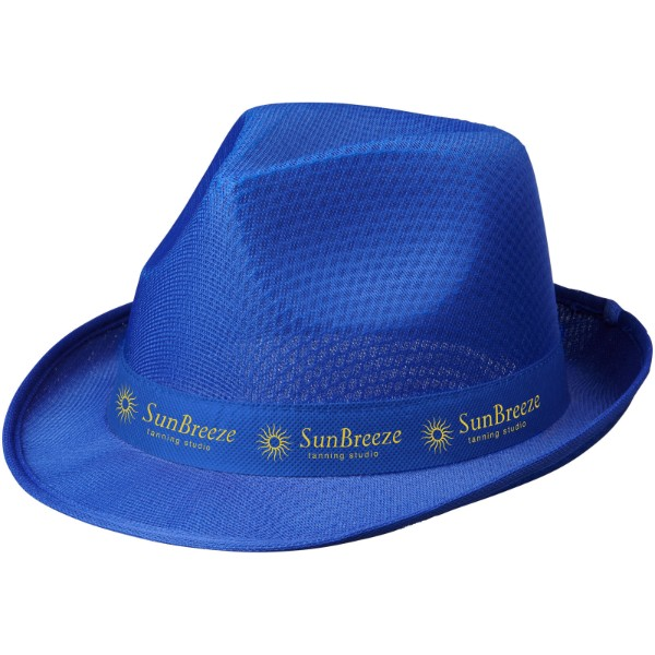Trilby hat with ribbon - Blue