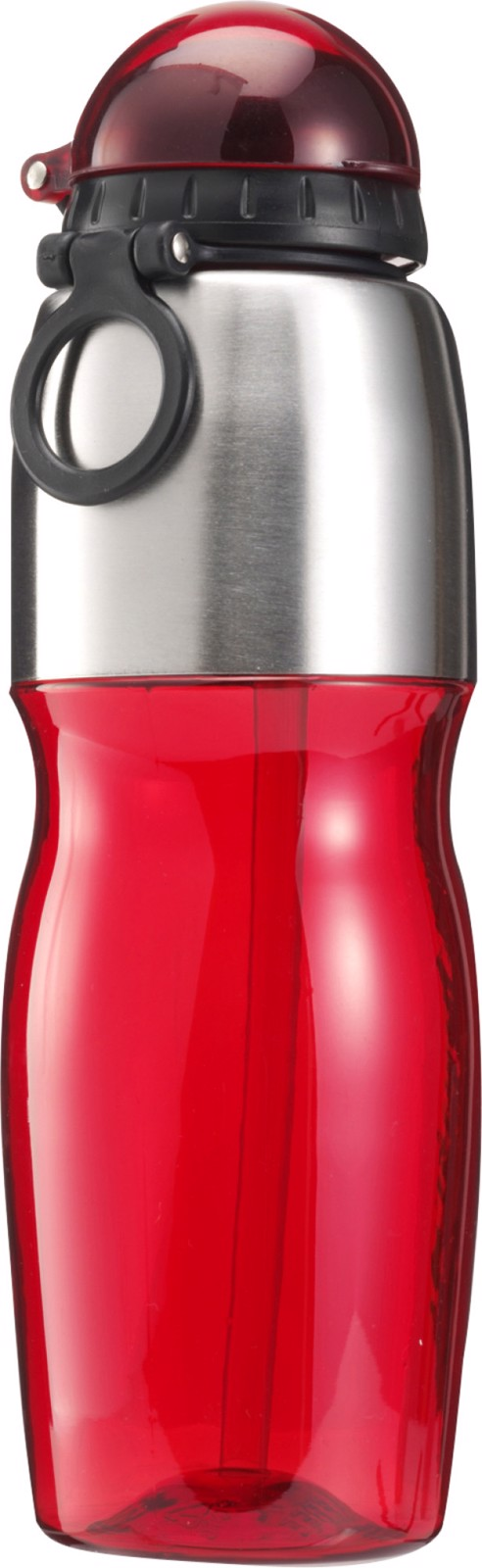 PS and stainless steel bottle - Red